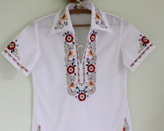 Ethnic Embroidered Floral Blouse