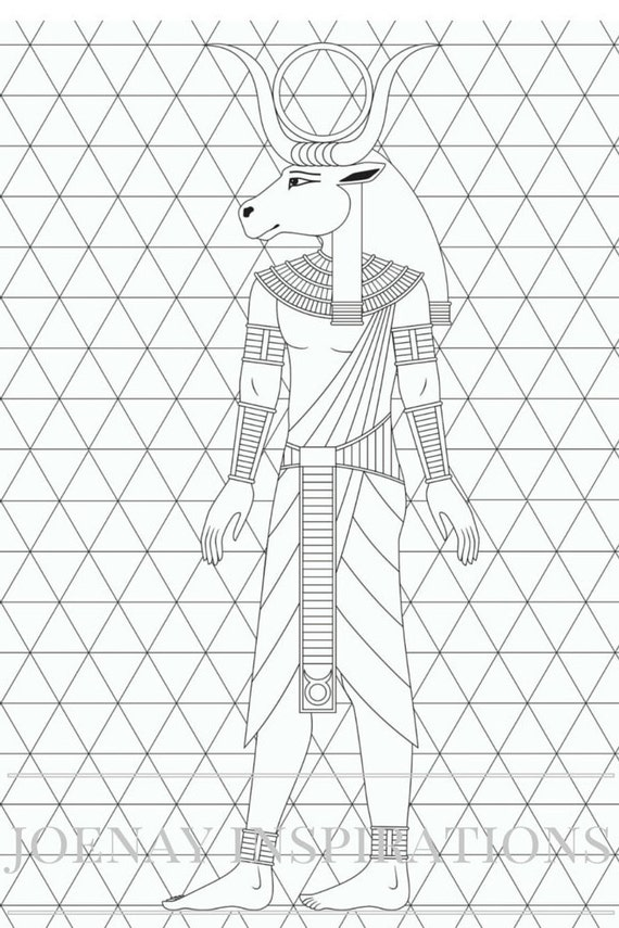 Adult Coloring Book, Printable Coloring Pages, Coloring Pages, Coloring Book for Adults, Instant Download, Egyptian 2 page 13