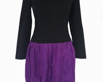 1990s Parisian Dress in Purple and Black for Untouchable Tech Founders