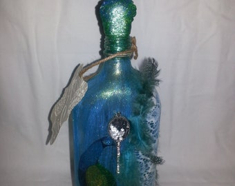 The Message in a Bottle With a Scroll