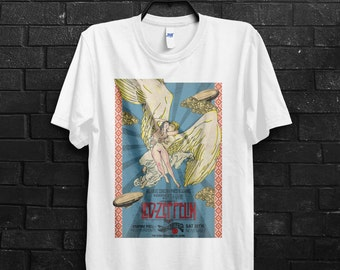 Led Zeppelin Angel Men T-Shirt Rock And Roll Classic Rock Jimmy Page Robert Plant Stair way to Heaven Shirts