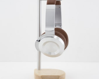 Modern Headphone Stand | PERCH V2.0 | Solid Maple & Aluminum |