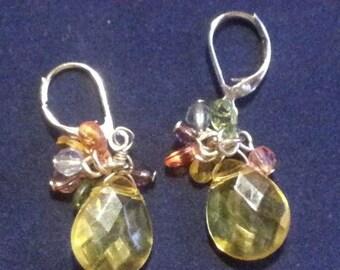 Fancy Handmade Lucite Briolettes Earrings