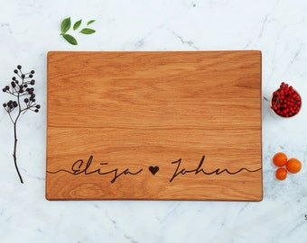 Personalized Cutting Board Wedding Gift Engraved Engagement Gift For Friends Couples Gift His & Her Bridesmaids Unique Bridal Shower Gift