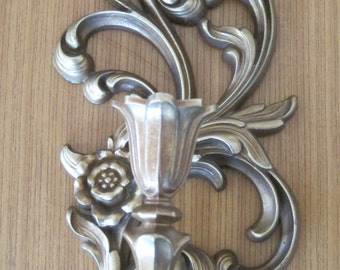Syroco Wall Sconce, French Country, Vintage