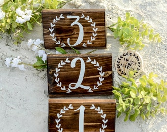 Rustic Table Numbers - Wedding Table Numbers - Table Numbers Wood - Standing Table Numbers -