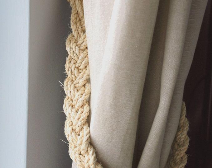 Rustic Natural Sisal Rope Curtain Tiebacks Shabby Chic Vintage Nautical Stylish Tie back