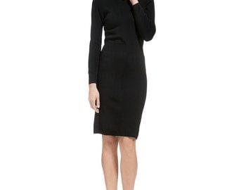 Turtleneck Dress, Sweater Dress, Black Dress, Grey Dress, Pink Dress