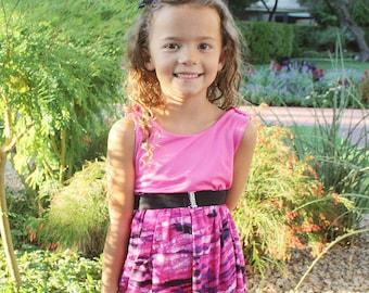 Girls summer dress, Girls leopard dress, Girls pink dress, Girls clothing, Girls dresses, Girls Size 2, Girls Size 6, Girls sundress