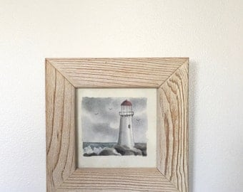 Lighthouse Watercolor Frame