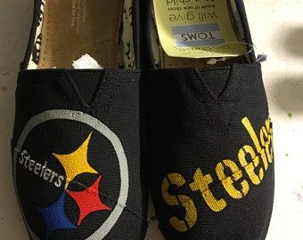 Steelers Painted TOMS