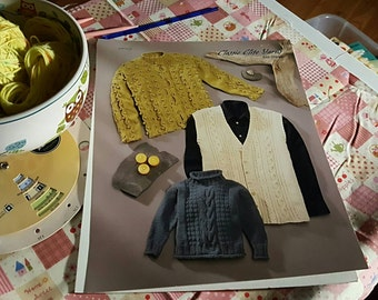 2000 Classic Elite Yarns #848 Dream Children's Sweaters Knitting Pattern OOP