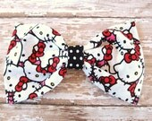 Hello Kitty Hair Bow, Hello Kitty Fabric Hair Bow, HK Hair Bow