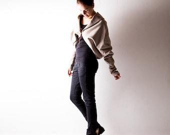 Winter Jacket, Ivory jacket, Wool coat, Dolman coat, Cape coat, oversized cardigan, womens jacket, batwing top, plus size jacket, sweatshirt