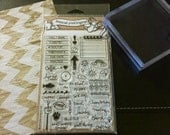 Clear Stamp Set - Calendar Planner Clear Rubber Stamp Set 44 Stamps included