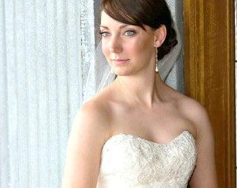 Long Pearl Bridal Earrings, Long Wedding Earrings, Swarovski Pearl and Crystal Earrings, Stiletto Earrings, Long length wedding earrings