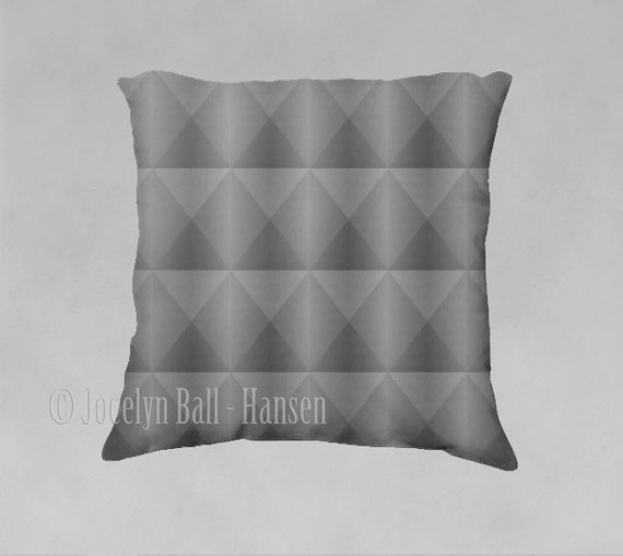 Industrial Throw Pillow Cover Digital Brushed Silver
