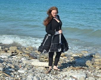 Abalone Large frankensweater upcycled recycled gypsy coat 90