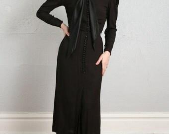 SALE- 1930s 2pc Dress & Jacket LBD