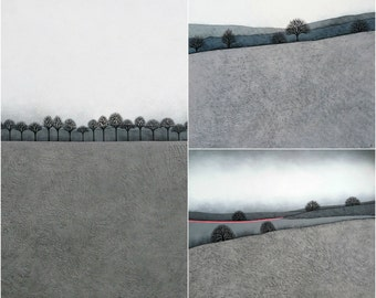 Intermission Print Collection - Set of 3 Signed Archival Art Prints - Contemporary Minimalist Landscape Painting - by Natasha Newton