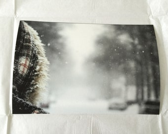 First Snowstorm - 8X12 - Fine Art print - Hahnemühle Photo Rag 100% Cotton Acide Free