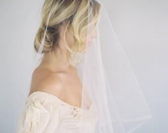 Half Inch Horsehair Veil, Drop Veil, Traditional Veil, Crinoline Veil, Ribbon Wedding Veil, Blusher Veil, Classic Veil, Cathedral Veil, 1628