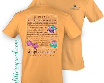 Simply Southern -  *Original* Beach Weekend Vitals Sleeve  Shirt