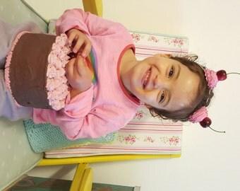 Cupcake Ears Headband ,Cupcake Mouse Ears, Cupcake Headband, Photo Prop, Birthday Headband, Cupcake Halloween costume Cosplay