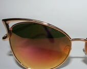 Cat eye Sunglasses Oversized Mirrored Rose Gold