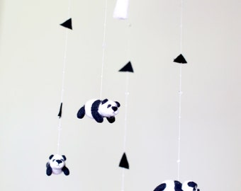Panda baby mobile - nursery decor