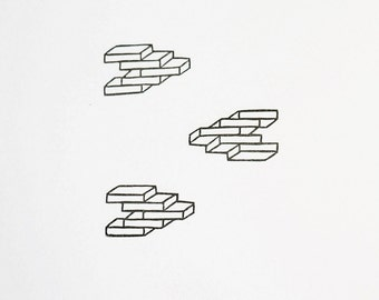 Brick Wall - Hand Carved Rubber Stamp
