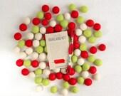Felt Pom-Poms // Classic Christmas // Felt Balls by Benzie