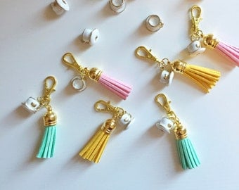 suede tassel zipper charm with LATTE CHARM [second edition]