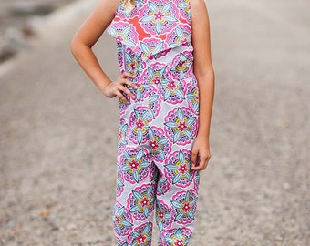 INSTANT DOWNLOAD- Bali Romper Top (Sizes 9/12 months to 12) PDF Sewing Pattern and Tutorial