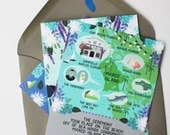 Detailed Map Card : Custom Illustrated Wedding Invitations Add-on