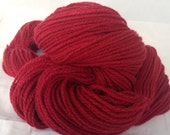 Aurora red Pure cashmere yarn, up-cycled cashmere sweater, 140 yards Aurora red cashmere yarn, worsted weight