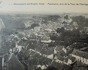 Vintage Unused French Postcard - Chaumont-en-Vexin, Oise, France