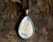 Inspirational Necklace Set - Live Free - Positive Jewelry - Motivational Necklace