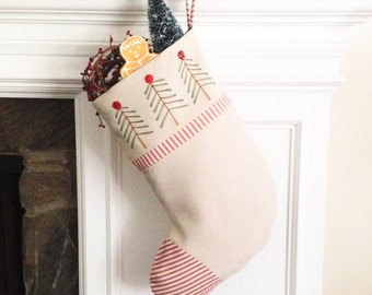Personalized Holiday Decor, Christmas Stocking, Holiday Decorations, Family Christmas Stockings, MADE to ORDER MamaBleuDesigns