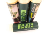 MOJITO Lip Balm - lime mint spearmint alcohol drink vegan natural candelilla lip tube happy hour
