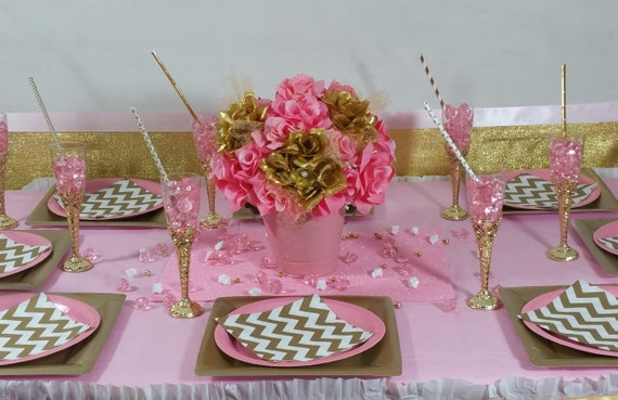 flower centerpiece little princess baby shower theme and decorations