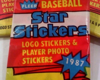 Baseball Star Stickers Trading Cards 1987