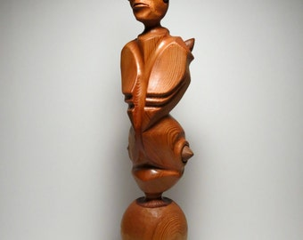 RESERVED FOR CLIENT - Abstract Cedar Wood Sculpture - Phrynosoma I