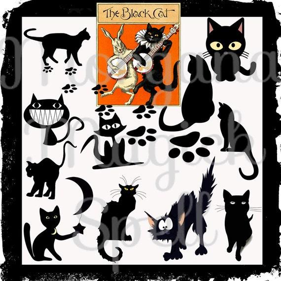 Le Chat Noir  Black Cat Royalty Free
