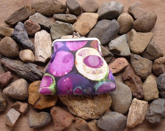 Geode purse, purple pink blue coin purse, nature clutch, earth rocks geology, minerals, gift for scientist, science, jewel colours, stones