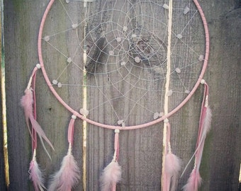 Dreamcatcher, dream catcher, wedding decor, pink dreamcatcher, wall decor, wall hanging, largedreamcatcher, boho, bohodreamcatcher