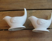 White Dove Candle Holders, Porcelain White Doves, Pair of TWO, AVON Collectibles, Christmas, Wedding Doves, Made in Taiwan MyVintageTable