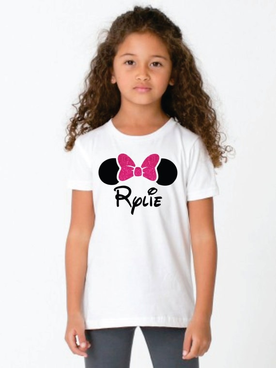 Items similar to minnie mouse personalized shirt for girls for Who makes the best white t shirts