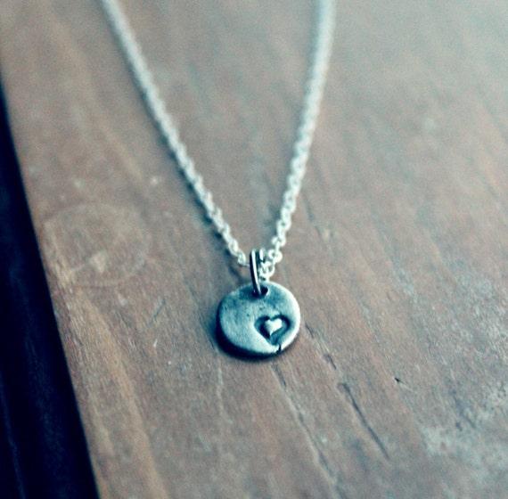 Tiny Heart Necklace, Minimalist Jewelry, Tiny heart charm, small heart charm, small heart necklace, tiny charm jewelry, minimalist necklace