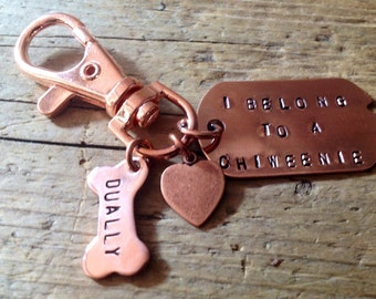Chiweenie Keychain hybrid designer dog chihuahua dachshund dog